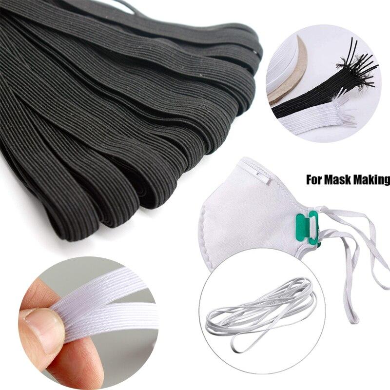 3/7mm Elastische Bands Hohe Elastische Flache Gummiband Für, Der Masken Elastische Schnur Seil String DIY Maske nähen Zubehör