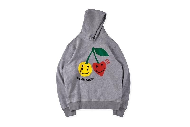 2020ss Best Quality WE'RE GOOD Hoodies Men Women CPFM.XYZ Fruit Cherry Face Printed Hooded Sweatshirt Hiphop Men Pullovers Hoody