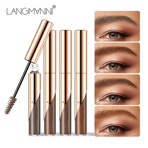 Langmanni Natural Liquid Dyeing Eyebrow Cream Set Waterproof Durable Brown Tint Eyebrow Henna Mascara Eyebrows Paint Makeup