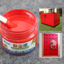 Red Paintgold Paint Wood Metal Lacquer Coating for Furniture Car Statuary Coloring Tasteless Water-based Acrylic 100g