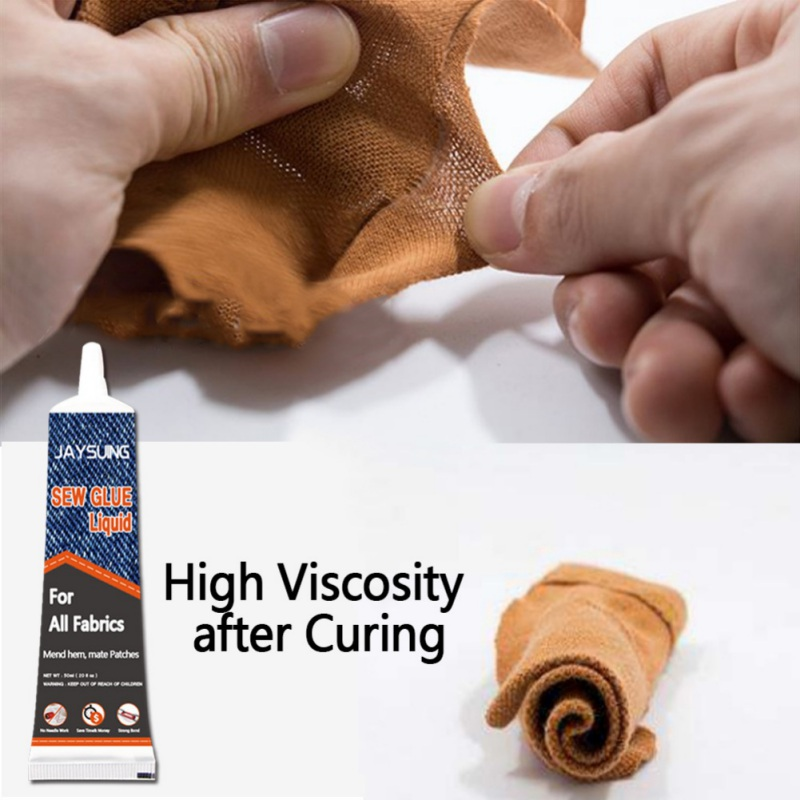 50ml Fabric Glue Multifunctional Repair Glue Fast Curing No Irritation High Viscosity Strength For Clothes,Fabrics And Textile