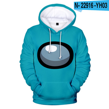 New Autumn Winter Tops Funny Print Among Us Hoodie Cartoon 3D Printed Pullover Sweatshirt Adult Harajuku Anime Pullover 32