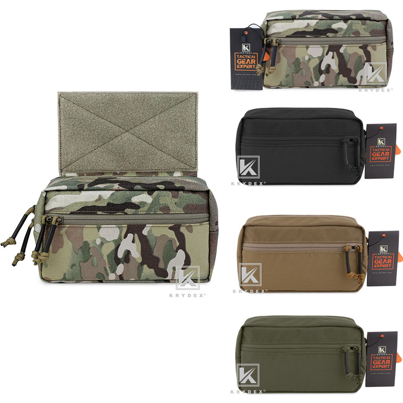 KRYDEX Spiritus Style SACK Abdominal Pouch Nylon Fanny Pack Sub Abdominal Carrying Accessories For MK3 Chest Rig Plate Carrier