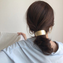 Simple Korean Metal Hair Clips for Women Big Wide Arc Girls Hairpin Barrette Ponytail Holder Accessories Female