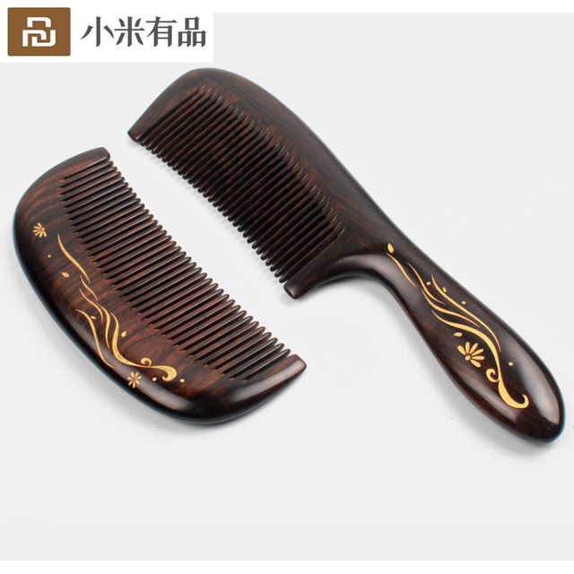 Best Gift Youpin Xinzhi Healthy Natural Log Comb No Static Pocket Wooden Comb Hand Made Professional Hair Styling Tool For Woman
