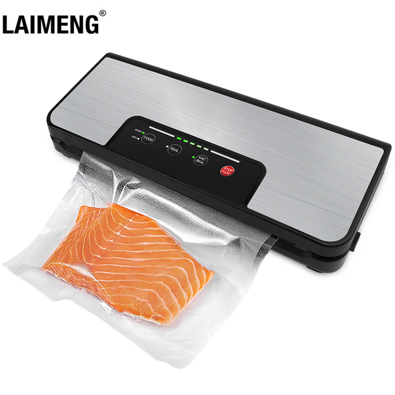 LAIMENG Vacuum Packing Machine With Roll Holder Pulse Function Sous Vide Vacuum Sealer For Food Storage Packer Vacuum Bags S285