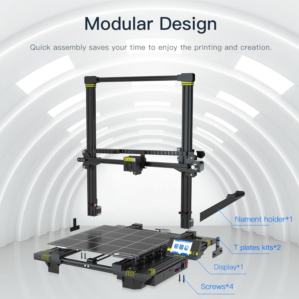lowest price ANYCUBIC Chiron 3D Printer DIY TFT Auto-leveling impresora 3D Printers Extruder Dual Z axis Impressora 3D Printing Kit Drucker