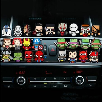 1PC Cartoon Air Freshener Car Perfume Vent Outlet Clip Deadpool Star Wars Marvel Style Auto Solid Fragrance Air Conditioner image