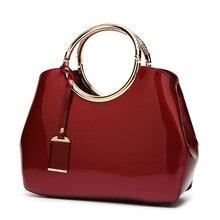 กระเป๋าถือสตรี VINTAGE แฟชั่นที่มีชื่อเสียงยี่ห้อ Candy สิทธิบัตรหนังกระเป๋าสะพายสุภาพสตรี Totes ง่าย Trapeze กระเป๋า Messenger ผู้หญิง