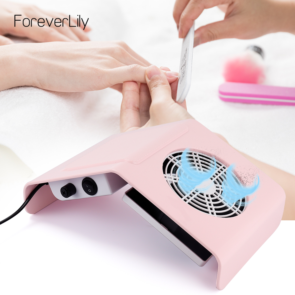 40W Nail Dust Suction Dust Collector Fan Vacuum Cleaner Manicure Machine Tools Dust Collecting Bag Nail Art Manicure Salon Tools
