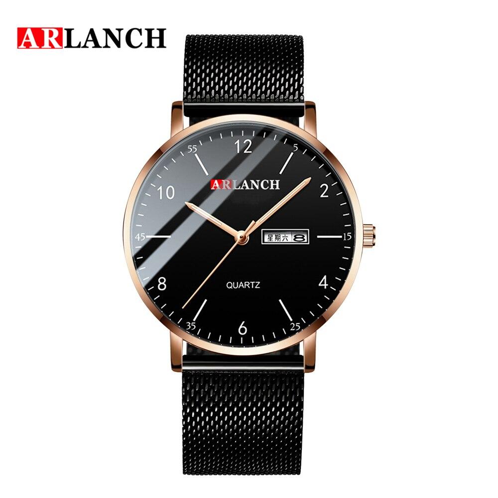 Модные часы для мужчин бизнес ультра тонкий календарь наручные