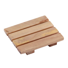 8 * 7 cm Natural Wood Wooden Soap Dish Storage Tray Holder Bath Shower Plate Support Wash