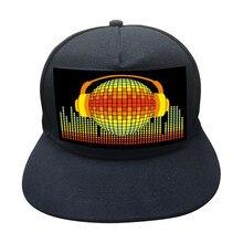 Sombrero de película con luz LED fría para hombre y mujer, gorra luminosa con personalidad para escenario, para Club nocturno, Bar, gorro de Hip Hop