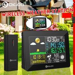 Digoo DG-TH8868 cyfrowa stacja pogody bezprzewodowy + wewnętrzny czujnik zewnętrzny przyrządy do pomiaru temperatury higrometr termometr zegar