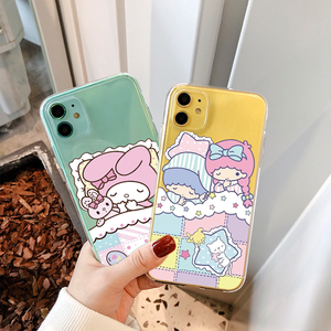 Cartoon Sanrio My Melody KIKI&LALA Phone Case For iPhone New SE 2020 XR X 11 Pro Xs MAX 6 6s 7 8 plus 5 5S 4 4S Soft Clear Cover(China)