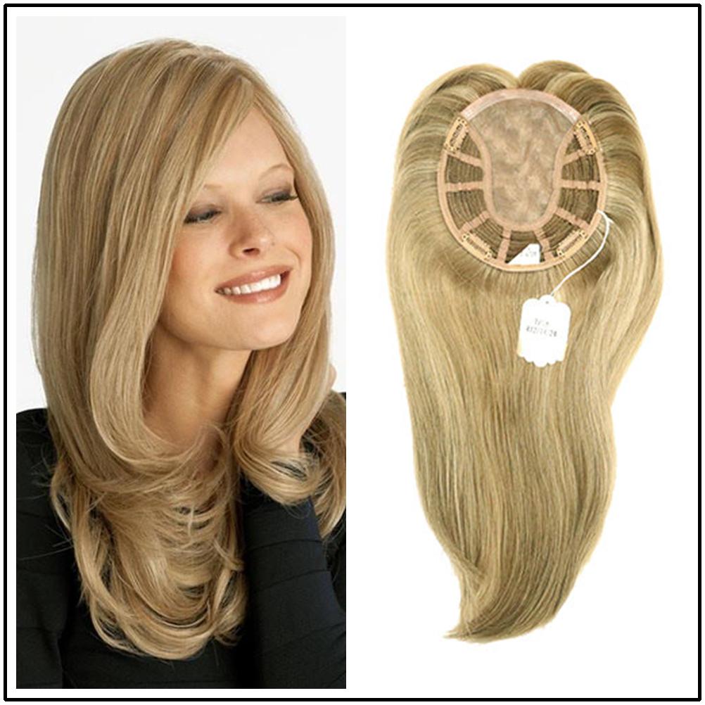 Hstonir European Remy Hair Topper Kosher Closure Wig For Women Toupee Mono Lace Fall Wig TP18
