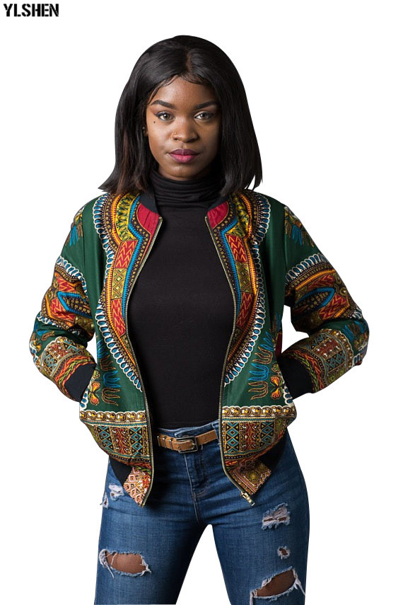 Dashiki African Dresses Clothes For Women Traditional Print Jacket Africa Dress Clothing Bazin Broder New Robe Africaine Tops