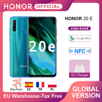 Купить В наличии глобальная версия мобильного телефона Honor 20e 20 e 4 Гб 64 Гб Kirin 710 восьмиядерный смартфон с тройной камерой Google play