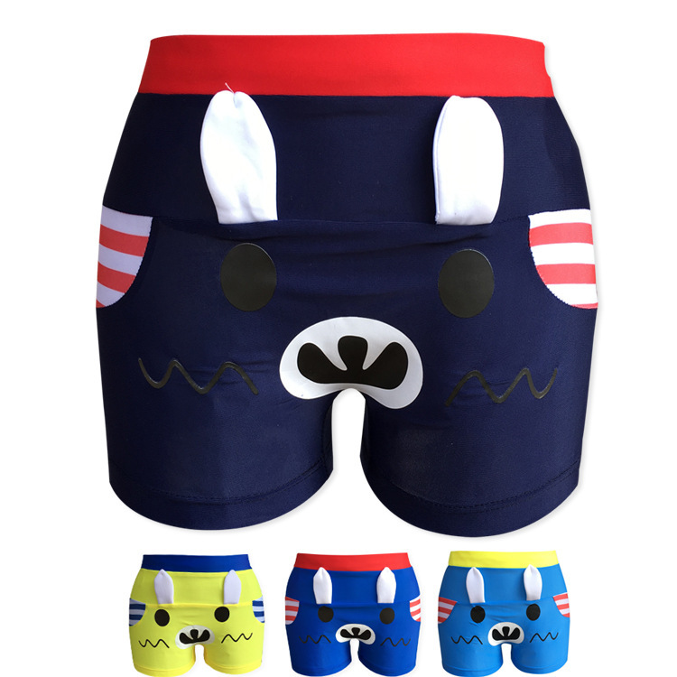 2019 Korean-style BOY'S Small CHILDREN'S Children 2-10-Year-Old Young Children Cute Cartoon Swimming Trunks Creative-Children Bo