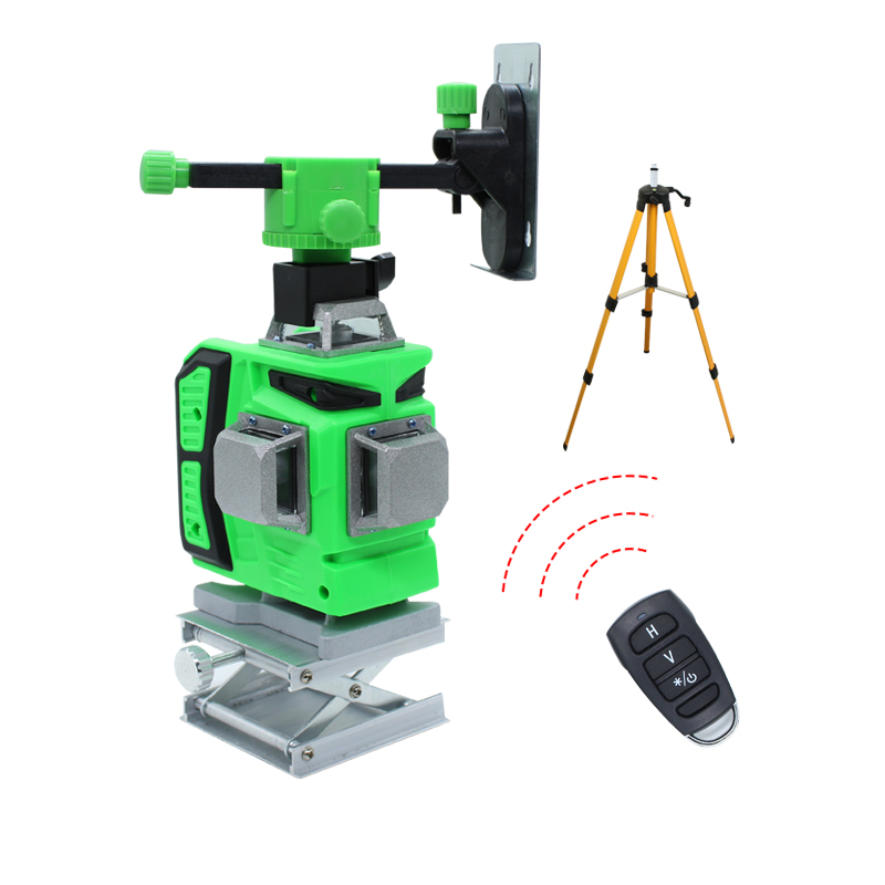BIGGRIT A 16 Green Lines 4D Laser Level Horizontal And Vertical Cross Lines With Auto Self-Leveling Indoors and Outdoors