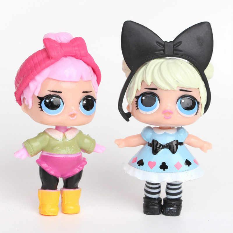 L.O.L. ÜBERRASCHUNG! 8 teile/satz Lol Überraschung Puppe Ornamente Spielzeug Konfetti Glitter Serie Action-figuren Anime für Kinder spielzeug für mädchen