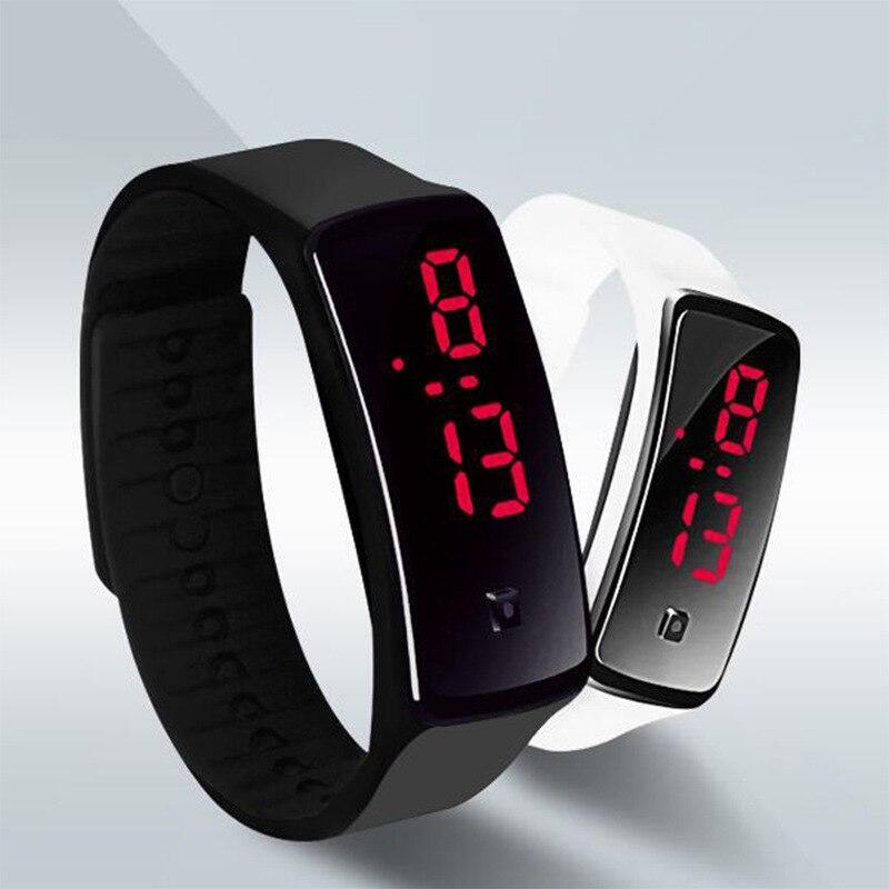 JOYROX Fashion LED Display Digital Sports Children Watch Hot Silicone Strap Women Wristwatch Girls Boys Kids Candy Color Clock