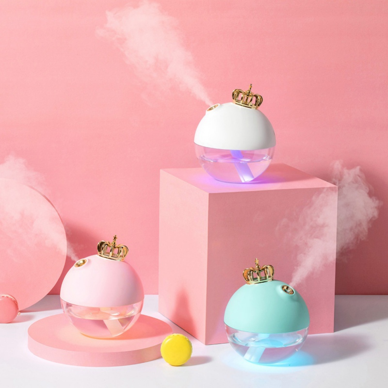 2019 Cute Crown Humidifier Mini Size Office Desk Humidifier For Bedroom Home Office Car