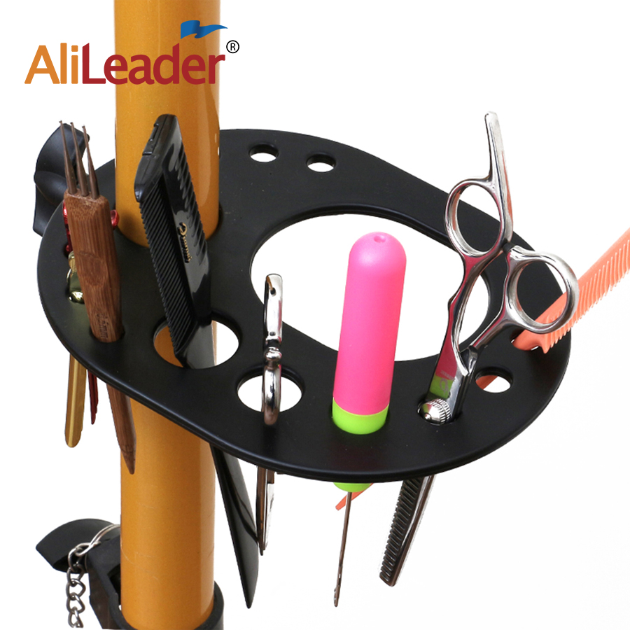 Alileader Cheap Convenient Multifunction Tray For Adjustable Wigs Stand For Mannequin Trainning Head Holder Barber'S Kit
