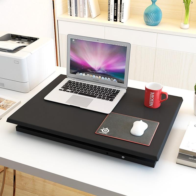 Стол с регулируемой высотой и подставкой для работы, стол для ноутбука, Легкий домашний офисный подъемник, подъемный стол - 4