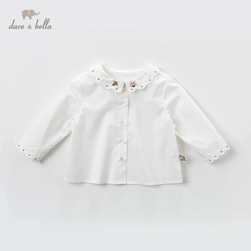 Dave bella/DBM12827; весенние Рубашки с милым принтом для маленьких девочек; топы для малышей; детская одежда высокого качества|Блузки и рубашки| | АлиЭкспресс