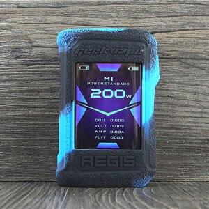 Image 4 - Koruyucu silikon kılıf için Geekvape Aegis X 200W vape kapak kauçuk cilt wrap Sticker kılıf kabuk gövde damper jel aegisx