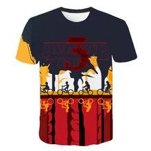 Dropship 3D T-Shirt boys/girl/kid Stranger Things 3 Tv Series T shirt 3d Tee Shirt Thing tshirt Eleven Top