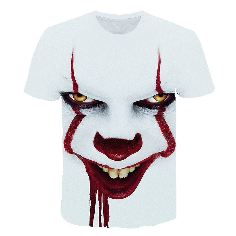 Fashion 2019 New Super Cool T-shirt Men's And Women's 3d T-shirts Printed With Suicide 3d Clown Short-sleeved Summer T-shirt