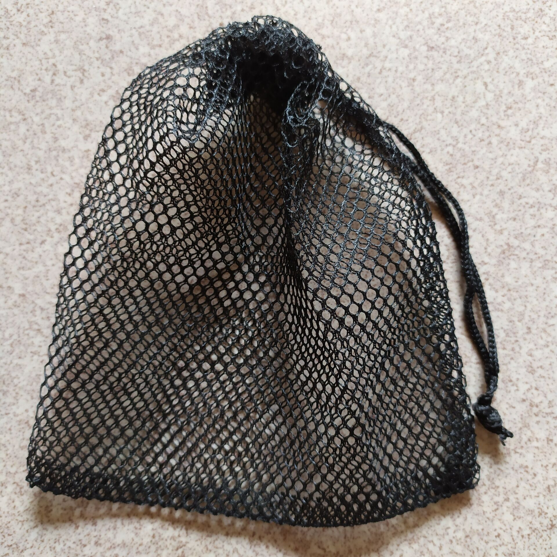 100pcs Special Black Mesh Net Drawstring Jewelry Gift Bag Pouches Custom 9*17cm For Gift Jewelry Storage And Packaging