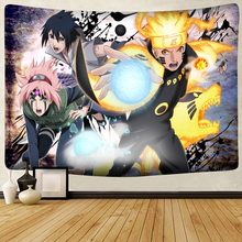 Anime Naruto Team Kakashi Printed Home Decor Tapestry Wall Hanging Sheets Picnic Blanket Hippie Macrame Psychedelic