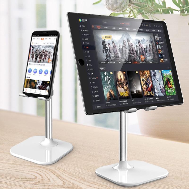 Alloy Desk Mobile Phone Holder Stand For IPhone Cell Universal Adjustable Metal Desktop Table Tablet Holder Stand For IPad Pro