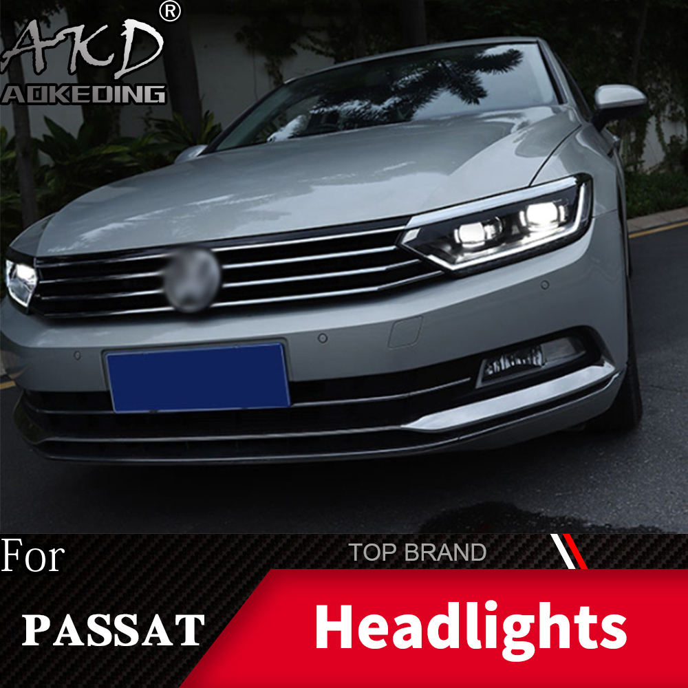 Head Lamp For Car VW Passat B8 2017-2019 Headlights Fog Lights Daytime Running Lights DRL H7 LED Bi Xenon Bulb Car Accessories