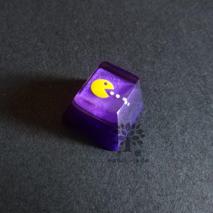 1 шт. ручной работы с подсветкой смоляная Кепка для ключей Pacman индивидуальная механическая клавиатура полупрозрачная Кепка для MX переключатели