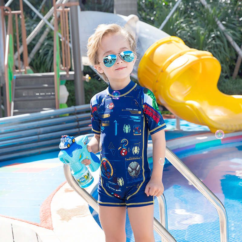 2020 New Products Cute KID'S Swimwear BOY'S One-piece Hot Springs Tour Bathing Suit Boy Baby Kids Swimwear