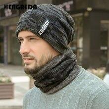 2019 inverno gorro chapéus cachecol conjunto quente malha chapéu crânio boné pescoço mais quente com lã grossa forrado inverno chapéu e cachecol para homem