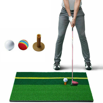 цена на Indoor Golf Mat Golf Practice Hitting Pad Artificial Grass Golf Exercise Mat With Tee Holder for Home Golf Training Pad Aids