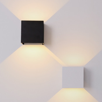 Outdoor Waterproof IP65 Wall Lamp Modern LED Wall Light Indoor Sconce Decorative lighting Porch Garden Lights Wall Lamps BL700 led wall light outdoor waterproof ip65 porch garden wall lamp adjustable wall sconces white black cube led wall mounted lamps