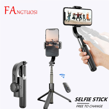 Wireless Selfie Stick Mini Tripod Handheld Gimbal Stabilizer Adjustable Monopod with Bluetooth Shutter For Android/IOS Phone 1