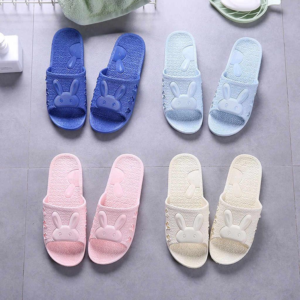 Unisex Nhà Dép Phòng Tắm Hộ Gia Đình Thỏ Giày Người Phụ Nữ Dép Đi Trong Nhà Cặp Đôi Nữ Giày Trượt Тапочки Zapatos De Mujer 2020