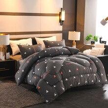 Зимнее одеяло 150*200 см, 220*240 см, утепленное пуховое одеяло, теплое домашнее одеяло, домашний текстиль, одеяло с птицей, ананасом, серым оленем