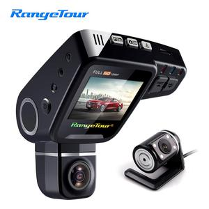 "Image 1 - Range Tour C10s Plus Mini Car DVR 360 Degree Rotated Dash Cam Dual lens  Front 1080P Rear 480P Video Recroder 2"" Screen Display"