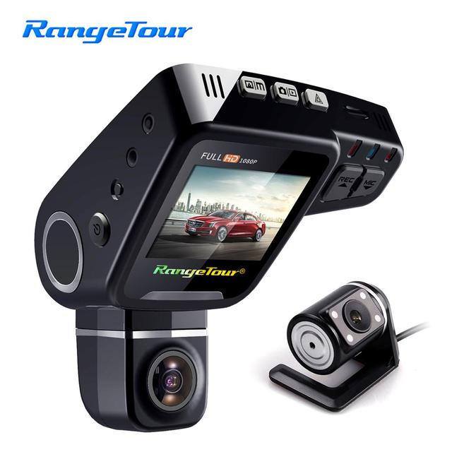 "Range Tour C10s Plus Mini Car DVR 360 Degree Rotated Dash Cam Dual lens  Front 1080P Rear 480P Video Recroder 2"" Screen Display"