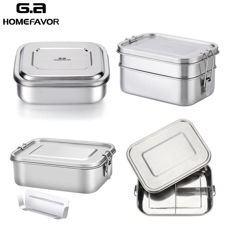 Mittagessen Container Edelstahl Bento Lebensmittel Container G. eine HOMEFAVOR Snack Storage Box Für Kinder Frauen Männer