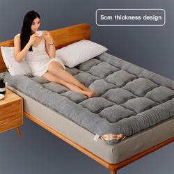 Tatami macio grosso quente dobrável único ou colchão duplo moda nova topper acolchoado cama para dormitório estudante