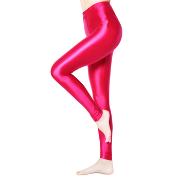 XCKNY satynowe błyszczące nieprzezroczyste błyszczące wyglądające na mokre rajstopy błyszczące seksowne pończochy seksowne pończochy joga spodnie treningowe damskie sportowe tanie i dobre opinie CN (pochodzenie) Pasuje prawda na wymiar weź swój normalny rozmiar